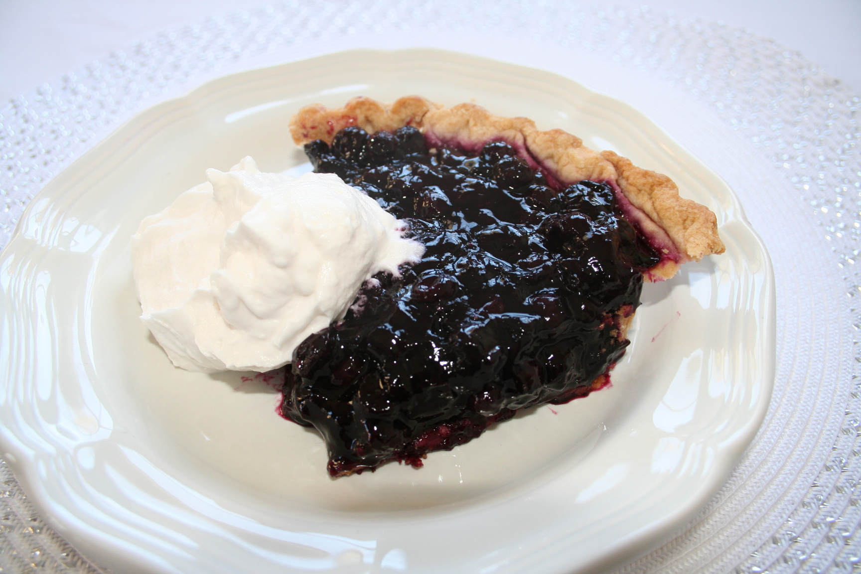 Mom's Blueberry Pie Recipe — Dishmaps